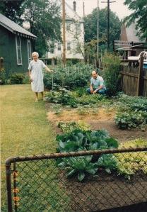 Angelina & son Neno in garden